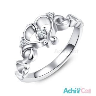 【STEVEN YANG】珠寶白鋼「甜美后冠」鋼戒指/尾戒 KA4068