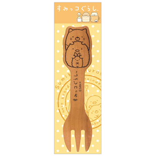 【San-X】角落公仔緊緊窩角落系列木製叉子(白熊君+企鵝君)