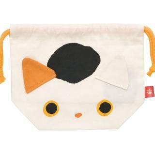 【San-X】小襪貓招福貓系列棉布便當束口袋(小福貓)