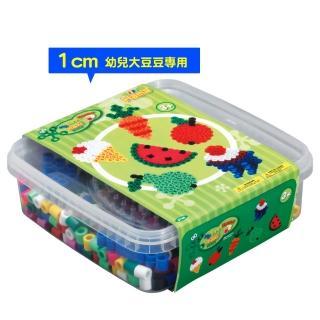 【Hama幼兒大豆豆】600顆大拼豆幼兒早教學習組合(旅行輕裝盒-大圓板)