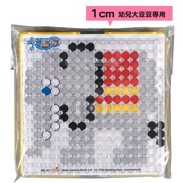 【Hama幼兒大豆豆】大拼豆幼兒專用輔助套裝組(透明大正方板-10張彩圖)