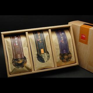 【十翼饌】山野珍藏禮盒 x1盒(新社香菇110g+黑木耳100g+六甲龍眼乾250g)