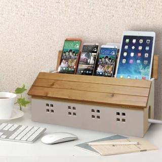 【C&B】鄉村趣古木調加強版電線收納盒