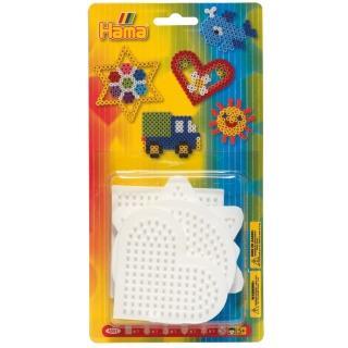 【Hama 拼拼豆豆】五入小幾何模型板組合(正方、圓、六角、愛心、星)