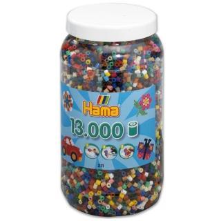 【Hama 拼拼豆豆】13000顆拼豆補充罐(67號經典-22色)