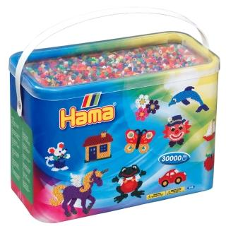 【Hama 拼拼豆豆】30000顆拼豆補充桶(68號全彩-50色)