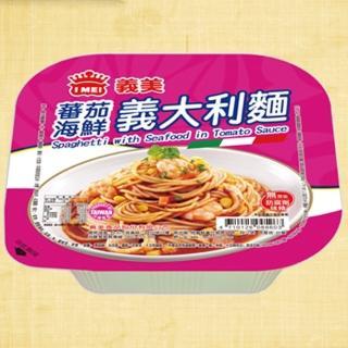 【鮮食家任選799】義美義大利番茄海鮮麵(340g/盒)