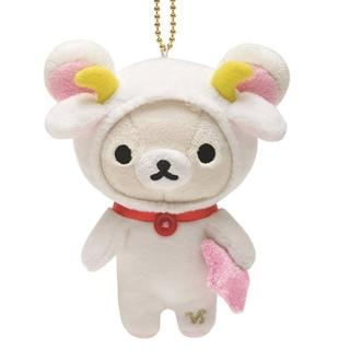 【San-X】拉拉熊12星座毛絨公仔吊飾(懶妹魔羯座)