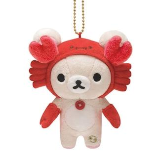 【San-X】拉拉熊12星座毛絨公仔吊飾(懶妹巨蟹座)