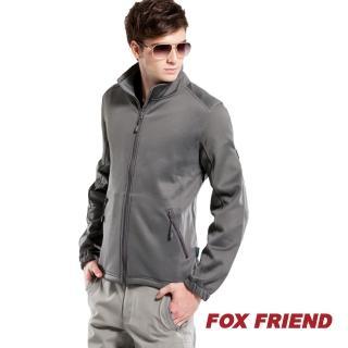 【橋登FOX FRIEND】中層衣 SUPER STRETCH 內刷毛保暖 高性能排汗快乾 全開襟(789)