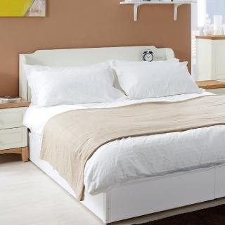 【綠活居】曼徹斯特5尺白色雙人床頭箱