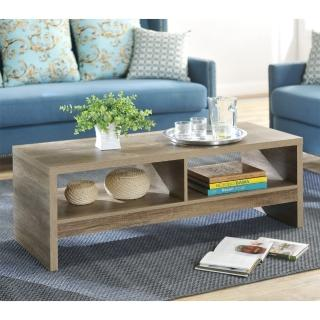 【FUN生活】DIY經典設計優雅大茶几桌/邊桌(深橡色)