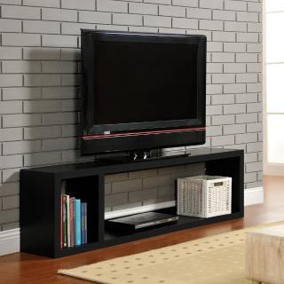 【FUN生活】DIY現代感簡約電視櫃/置物櫃/收納櫃(黑色)