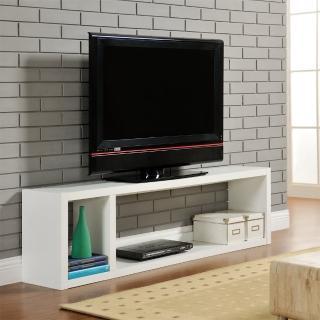 【FUN生活】DIY現代感簡約電視櫃/置物櫃/收納櫃(白色)