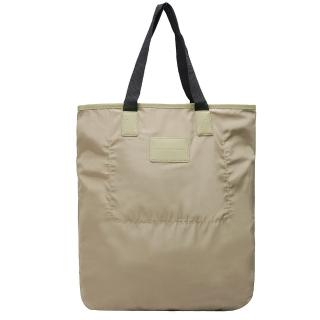 【MARC BY MARC JACOBS】簡約休閒雙色肩背購物包(卡其X黑M0001036A-BLACK)