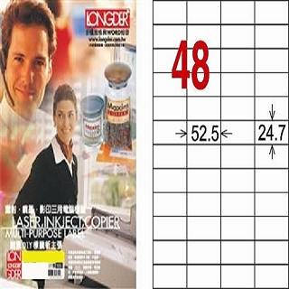 【A4三用標籤紙LD848WA】24.7x52.5mm(白色105張)