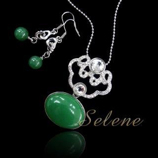 【Selene珠寶】富貴如意東菱玉套組