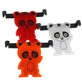 【omax】台製可愛熊自行車反光片-6入