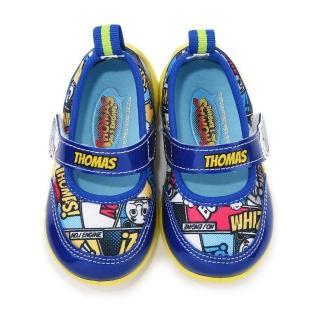 【童鞋城堡】湯瑪士 中童 漫畫風魔鬼氈休閒鞋(TH86040-藍)