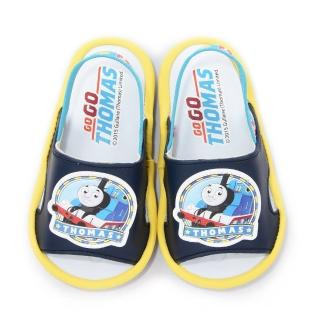 【童鞋城堡】湯瑪士 小童 學步嗶嗶後帶拖鞋(TH43001-藍)