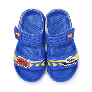 【童鞋城堡】Tomica多美汽車 中童 輕量玩水涼鞋(TM3624-藍)