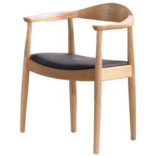 【東京家居】日居栓木實木扶手餐椅(原木色)