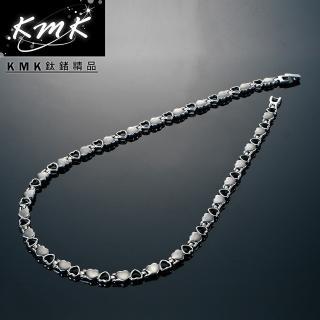 【KMK鈦鍺精品】心連心(純鈦+磁鍺健康項鍊)
