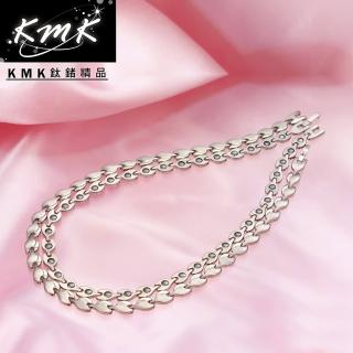【KMK鈦鍺精品】荷葉風情(純鈦+磁鍺健康項鍊)