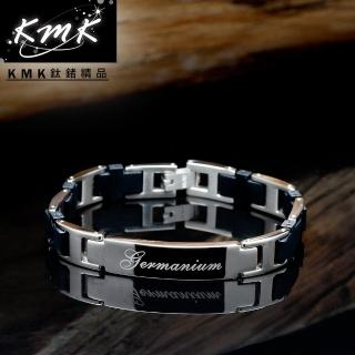 【KMK鈦鍺精品】黑色物語(純鈦矽膠+磁鍺健康手鍊)