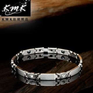 【KMK鈦鍺精品】純真(純鈦+晶鑽+磁鍺健康手鍊)