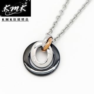 ~KMK鈦鍺 ~愛戀~圓形^( 珠寶白鋼~項墜^)