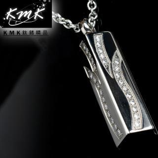【KMK鈦鍺精品】湧泉(三角能量錐形皓石項鍊)