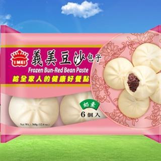 【鮮食家任選799】義美豆沙包(60g/6入/包)