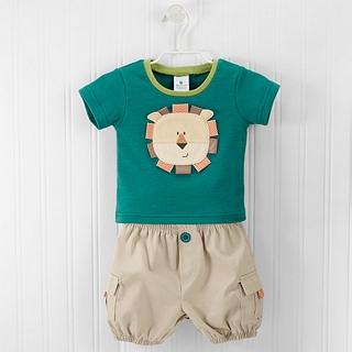 【BabyAspen】BAS 小小獅子套裝2件組 彌月禮(#BA16045NA)