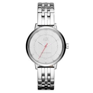 【AX Armani Exchange】迷人性格率性時尚腕錶-銀(AX5360)