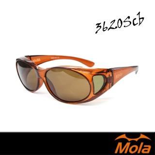 【MOLA 摩拉】近視/老花眼鏡族可戴-時尚偏光太陽眼鏡 套鏡 鏡中鏡(3620SCB)