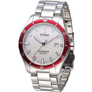 【TITONI】梅花錶 Seascoper 海洋探索潛水機械錶(83985SRB-516)