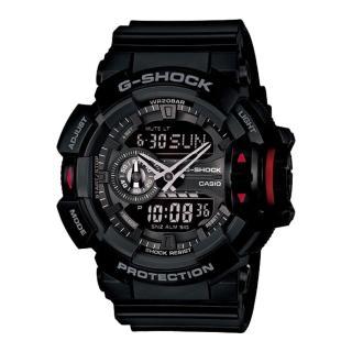 【CASIO 卡西歐 G-SHOCK 系列】超人氣大錶徑生力軍_多層次錶盤雙顯錶(GA-400)