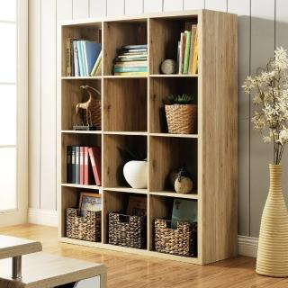 【FUN生活】DIY時尚設計十二格櫃/書櫃/置物櫃/收納櫃/隔間櫃(淺橡色)