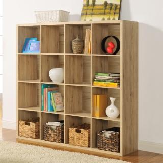 【FUN生活】DIY時尚設計十六格櫃/書櫃/置物櫃/收納櫃/隔間櫃(淺橡色)