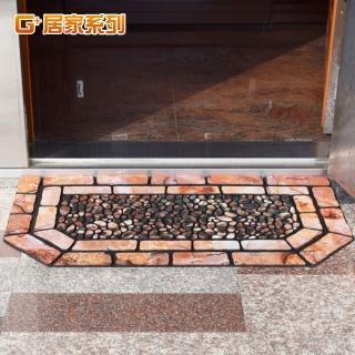 【居家G+】德式方磚橡膠植絨迎賓戶外地墊(特色六角型款)