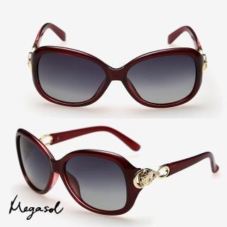 【MEGASOL】寶麗萊UV400立體雕飾偏光太陽眼鏡(MS8010-5色任選)