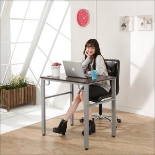 【BuyJM】環保低甲醛防潑水80公分穩重型工作桌/電腦桌(胡桃色)