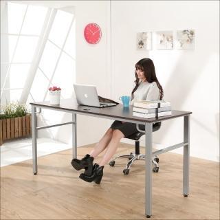 【BuyJM】環保低甲醛防潑水160公分穩重型工作桌/電腦桌(胡桃色)