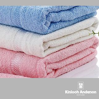 【金安德森】素色亮光紗繡花浴巾組(3入組 每色各1條)