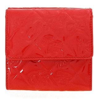【CHANEL】紅色漆皮NO.5圖騰短夾(37152 ROU CLA)