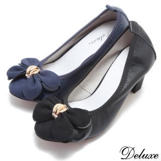 【Deluxe】包頭高跟鞋(點金蝴蝶花瓣)