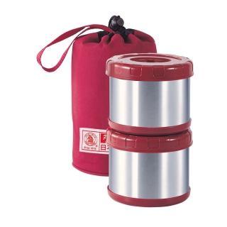【日本寶馬牌】保溫飯盒-0.5LX2入