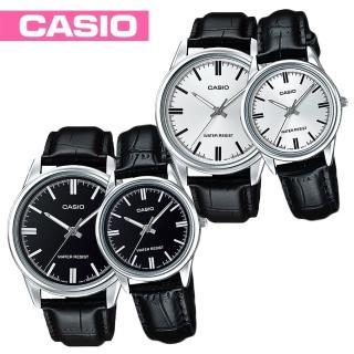 【CASIO 卡西歐】甜蜜情侶對錶-送禮首選(MTP-V005L+LTP-V005L)