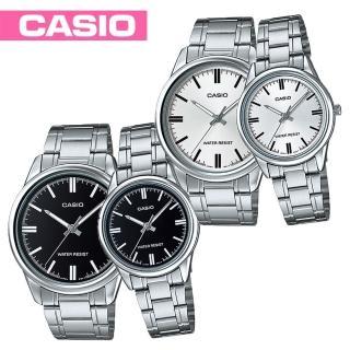 【CASIO 卡西歐】送禮首選-甜蜜情侶浪漫對錶(MTP-V005D+LTP-V005D)
